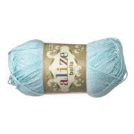 Włóczka Alize Bella 514 w kolorze błękit. 100% bawełny. Naturalna propozycja do amigurumi. Długość metrów w motku to aż 180!:)