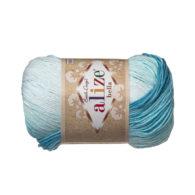 Włóczka Alize Bella Batik 2130. 100% bawełny. Naturalna propozycja do amigurumi. Długość metrów w motku to aż 180!:)