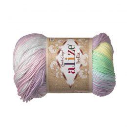 Włóczka Alize Bella Batik 2132. 100% bawełny. Naturalna propozycja do amigurumi. Długość metrów w motku to aż 180!:)