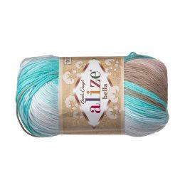 Włóczka Alize Bella Batik 3675. 100% bawełny. Naturalna propozycja do amigurumi. Długość metrów w motku to aż 180!:)