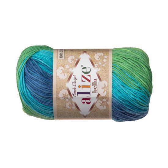 Włóczka Alize Bella Batik 4150. 100% bawełny. Naturalna propozycja do amigurumi. Długość metrów w motku to aż 180!:)