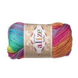 Włóczka Alize Bella Batik 4151. 100% bawełny. Naturalna propozycja do amigurumi. Długość metrów w motku to aż 180!:)