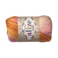 Włóczka Alize Bella Batik 6789. 100% bawełny. Naturalna propozycja do amigurumi. Długość metrów w motku to aż 180!:)
