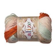 Włóczka Alize Bella Batik 7103. 100% bawełny. Naturalna propozycja do amigurumi. Długość metrów w motku to aż 180!:)