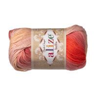 Włóczka Alize Bella Batik 7104. 100% bawełny. Naturalna propozycja do amigurumi. Długość metrów w motku to aż 180!:)