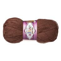 Alize Cotton Gold 493 czekolada. Bawełniano-akrylowa miękka włóczka. Idealna na zabawki amigirumi i odzież wiosenno-letnią.