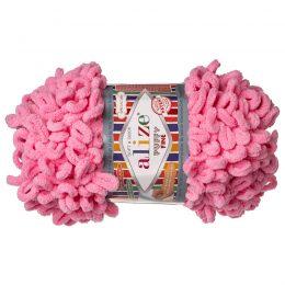 Alize Puffy Fine 39 pluszowa fantazyjna włóczka w kolorze różowym. Do tworzenia nie potrzeba drutów ani szydełka!