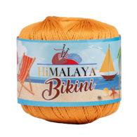 Włóczka Himalaya Bikini 80603 pomarańcz z poliamidu idealnie nadaje się na stroje kąpielowe, bieliznę czy letnie ubrania. 50g/165m