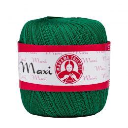 Madame Tricote Paris Maxi 5542, kolor zielony. Jest to 100% bawełna merceryzowana w czarnym kolorze. Idealny na świąteczne ozdoby