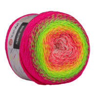 Yarn Art Flowers Vivid 507 to propozycja na chusty i tuniki czy sukienki. Paleta włóczki posiada cieniowane kolory.