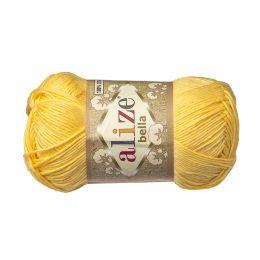 Włóczka Alize Bella 110 w kolorze żółtym. 100% bawełny. Naturalna propozycja do amigurumi. Długość metrów w motku to aż 180!:)