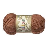 Włóczka Alize Bella 466 w kolorze kakao. 100% bawełny. Naturalna propozycja do amigurumi. Długość metrów w motku to aż 180!:)