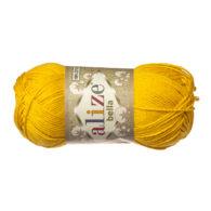 Włóczka Alize Bella 488 w kolorze słonecznym. 100% bawełny. Naturalna propozycja do amigurumi. Długość metrów w motku to aż 180!:)