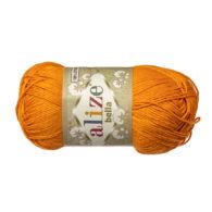 Włóczka Alize Bella 83 w kolorze pomarańczy. 100% bawełny. Naturalna propozycja do amigurumi. Długość metrów w motku to aż 180!:)