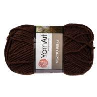 Yarn Art Merino Bulky 116 w kolorze brązowym to cieplutka wełniano-akrylowo włóczka idealna na czapki, swetry, szale czy koce.