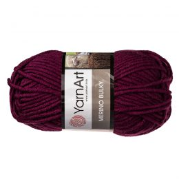 Yarn Art Merino Bulky 10094 to super ciepła fioletowa włóczka idealna na szaliki, czapki, czy ciepłe kapcie. Akryl z wełną, 100g/100m