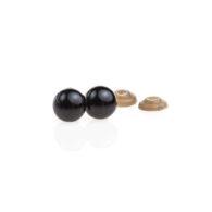 Oczy bezpieczne czarne 16mm do zabawek wraz z zatyczkami amigurumi