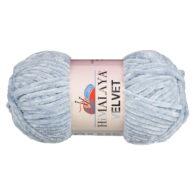 Włóczka Himalaya Velvet 90051 to szenilowa włóczka o delikatnym połysku. 100g/120m. Odpowiednik koloru 80351 Dolphin Baby.