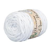 Opus Natura Macrama 5mm 101 to wyjątkowo miękki sznurek bawełniany zwinięty w walcowate motki po 250g i 60m. 80% bawełny i 20% poliestru.