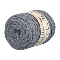 Opus Natura Macrama 5mm 106 to wyjątkowo miękki sznurek bawełniany zwinięty w walcowate motki po 250g i 60m. 80% bawełny i 20% poliestru.