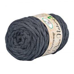 Opus Natura Macrama 5mm 108 to wyjątkowo miękki sznurek bawełniany zwinięty w walcowate motki po 250g i 60m. 80% bawełny i 20% poliestru.