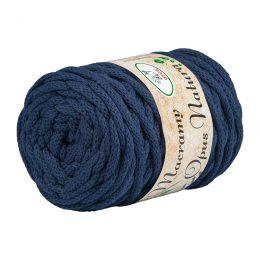 Opus Natura Macrama 5mm 113 to wyjątkowo miękki sznurek bawełniany zwinięty w walcowate motki po 250g i 60m. 80% bawełny i 20% poliestru.