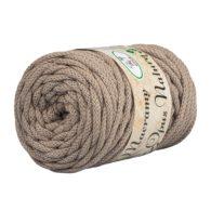 Opus Natura Macrama 5mm 116 to wyjątkowo miękki sznurek bawełniany zwinięty w walcowate motki po 250g i 60m. 80% bawełny i 20% poliestru.