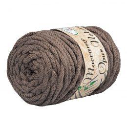 Opus Natura Macrama 5mm 117 to wyjątkowo miękki sznurek bawełniany zwinięty w walcowate motki po 250g i 60m. 80% bawełny i 20% poliestru.