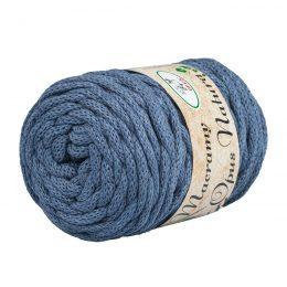 Opus Natura Macrama 5mm 139 to wyjątkowo miękki sznurek bawełniany zwinięty w walcowate motki po 250g i 60m. 80% bawełny i 20% poliestru.