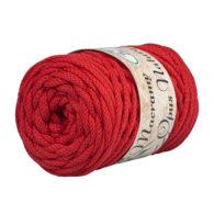 Opus Natura Macrama 5mm 160 to wyjątkowo miękki sznurek bawełniany zwinięty w walcowate motki po 250g i 60m. 80% bawełny i 20% poliestru.