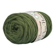 Opus Natura Macrama 5mm 162 to wyjątkowo miękki sznurek bawełniany zwinięty w walcowate motki po 250g i 60m. 80% bawełny i 20% poliestru.