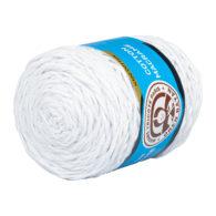 MTP Cotton Macrame M000 przędzony sznurek w kolorze białym.100% bawełny. Ma budowę plecionej nitki bez rdzenia w środku.250g/150m