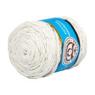 MTP Cotton Macrame M001 przędzony sznurek w kolorze kremowym. 100% bawełny. Ma budowę plecionej nitki bez rdzenia w środku.250g/150m
