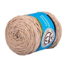 MTP Cotton Macrame M003 przędzony sznurek w kolorze beżowym. 100% bawełny. Ma budowę plecionej nitki bez rdzenia w środku.250g/150m