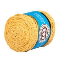 MTP Cotton Macrame M005 przędzony sznurek w kolorze żółtym. 100% bawełny. Ma budowę plecionej nitki bez rdzenia w środku.250g/150m