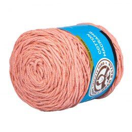 MTP Cotton Macrame M008 przędzony sznurek w kolorze łososiowym. 100% bawełny. Ma budowę plecionej nitki bez rdzenia w środku.250g/150m