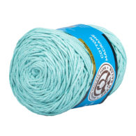MTP Cotton Macrame M020 przędzony sznurek w kolorze miętowym. 100% bawełny. Ma budowę plecionej nitki bez rdzenia w środku.250g/150m