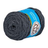 MTP Cotton Macrame M028 przędzony sznurek w kolorze grafitowym. 100% bawełny. Ma budowę plecionej nitki bez rdzenia w środku.250g/150m