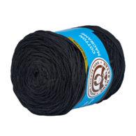 MTP Cotton Macrame M999 przędzony sznurek w kolorze czarnym. 100% bawełny. Ma budowę plecionej nitki bez rdzenia w środku.250g/150m