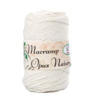 Sznurek Opus Natura Macrama Twisted 4mm 102 ecru to 80% bawełny i 20% poliestru. Idealny do makramowych robótek. 250g/70m