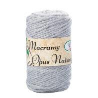 Sznurek Opus Natura Macrama Twisted 4mm 103 szary to 80% bawełny i 20% poliestru. Idealny do makramowych robótek. 250g/70m