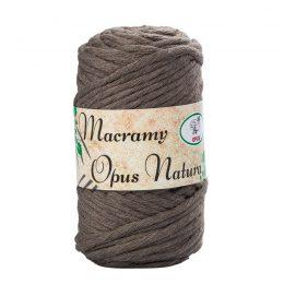 Sznurek Opus Natura Macrama Twisted 4mm 118 brąz to 80% bawełny i 20% poliestru. Idealny do makramowych robótek. 250g/70m