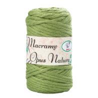 Sznurek Opus Natura Macrama Twisted 4mm 162 oliwka to 80% bawełny i 20% poliestru. Idealny do makramowych robótek. 250g/70m