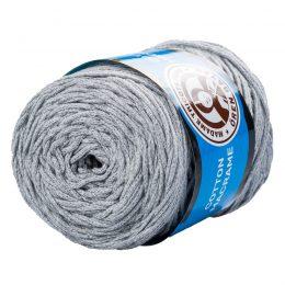 MTP Cotton Macrame M026 przędzony sznurek w kolorze szarym. 100% bawełny. Ma budowę plecionej nitki bez rdzenia w środku.250g/150m