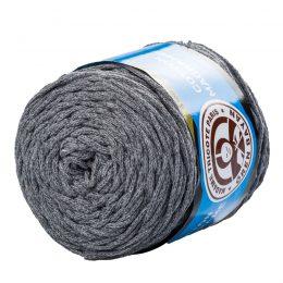 MTP Cotton Macrame M027 przędzony sznurek w kolorze szarym. 100% bawełny. Ma budowę plecionej nitki bez rdzenia w środku.250g/150m