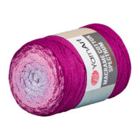 Yarn Art Macrame Cotton Spectrum 1314 Wielokolorowy przędzony sznurek. W 250g znajdziemy aż 225 metrów sznurka.