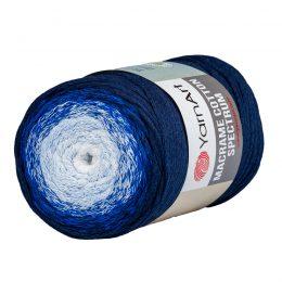 Yarn Art Macrame Cotton Spectrum 1316 Wielokolorowy przędzony sznurek. W 250g znajdziemy aż 225 metrów sznurka.