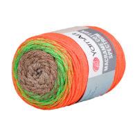 Yarn Art Macrame Cotton Spectrum 1321 Wielokolorowy przędzony sznurek. W 250g znajdziemy aż 225 metrów sznurka.