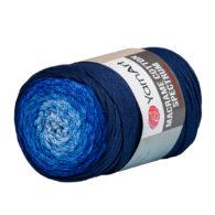 Yarn Art Macrame Cotton Spectrum 1324 Wielokolorowy przędzony sznurek. W 250g znajdziemy aż 225 metrów sznurka.