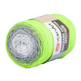 Yarn Art Macrame Cotton Spectrum 1326 Wielokolorowy przędzony sznurek. W 250g znajdziemy aż 225 metrów sznurka.